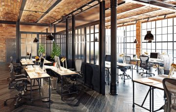 Biuro w stylu industrialnym – pomysły